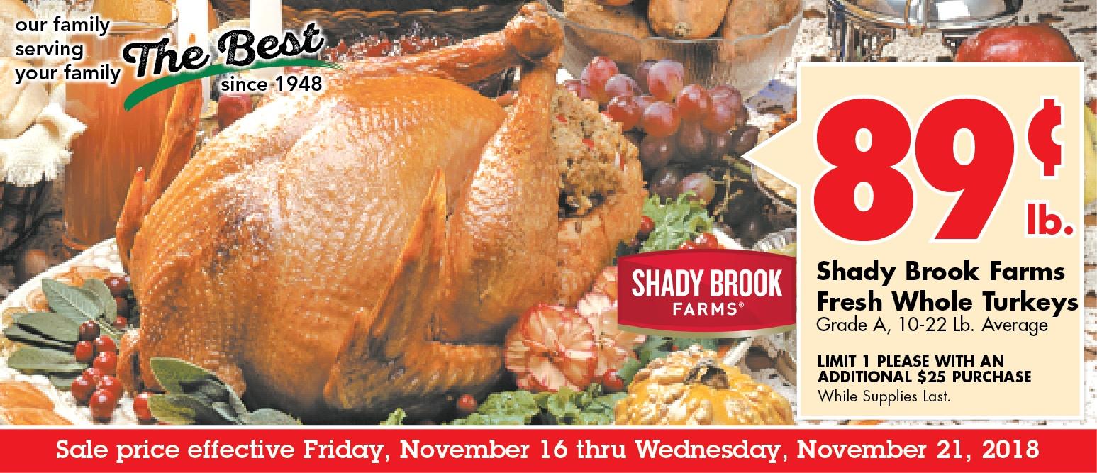 111618 fresh turkey